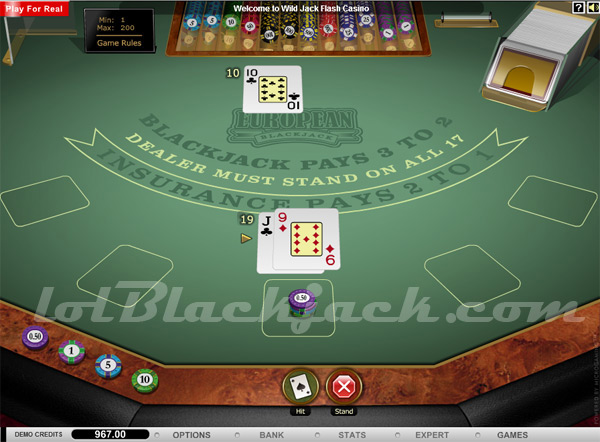 Club World Casino Blackjack